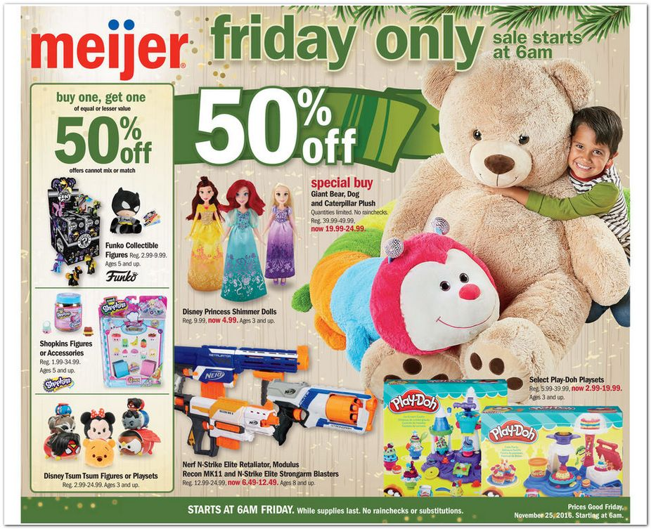 Meijer Black Friday page 1