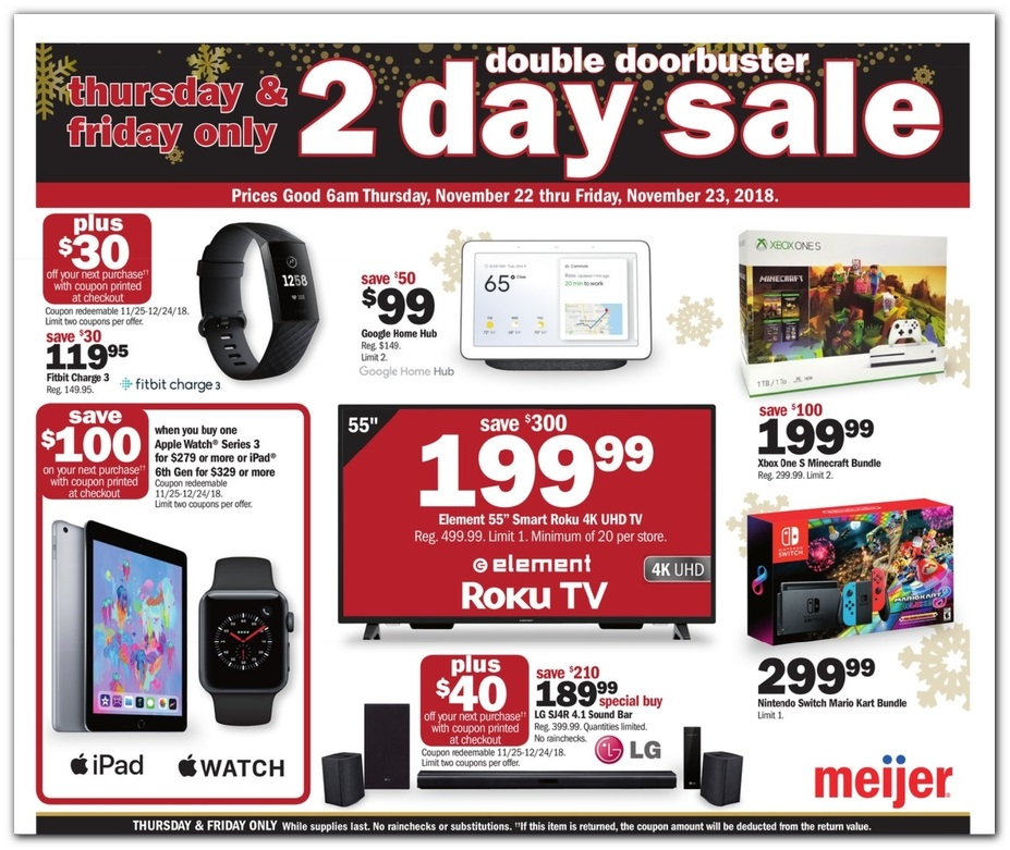 14bc2df14 Meijer Black Friday 2019 Ad, Deals and Sales